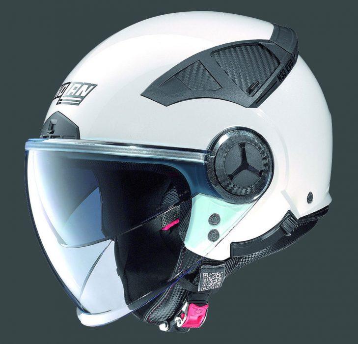 Casco Nolan N33 Evo Metal White